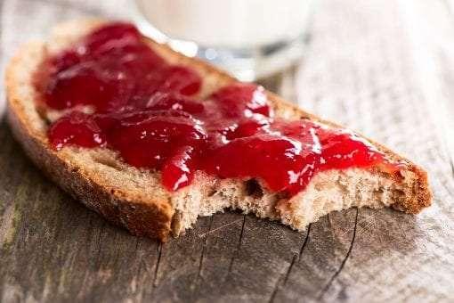 Toast with Strawberry No Sugar Added