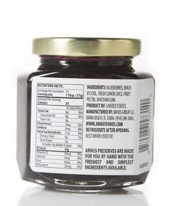 No sugar added blueberry preserves (back) by by Århus