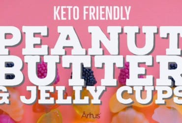 Recipe Peanut butter and jelly cups - Århus Foods