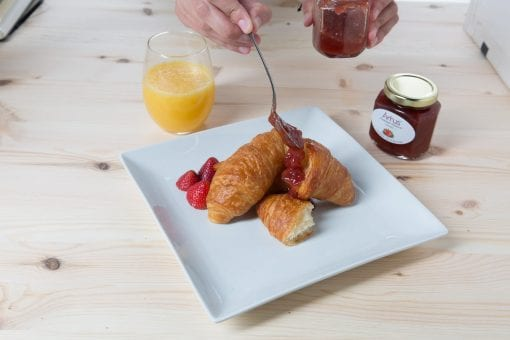 Pastries with Strawberry No Sugar Added