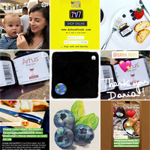 Follow us on Instagram from @arhusfoods